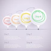 Abstract design background. Speech bubble round frame for Infographics. — Stockvektor