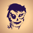 Halloween ink splash illustration with zombie — Image vectorielle