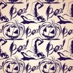 Vector Halloween ink splash pattern with hats and pumpkins — Stock Vector #32882409