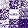 Seamless Halloween patterns mega collection — Stock Vector