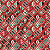 Seamless background with a Peruvian ornaments — Stockvektor