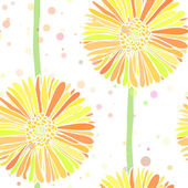 Vector seamless background of summer daisy flowers — Stock Vector