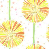 矢量无缝背景的夏天雏菊花 — 图库矢量图片