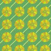 Vettore senza soluzione di continuità sfondo di fiori margherita estate — Vettoriale Stock