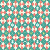 Rhombusand 雪の結晶をパターン ベクトル — ストックベクタ