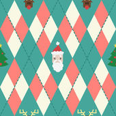 Vector christmas pattern with rhombus — Stock Vector