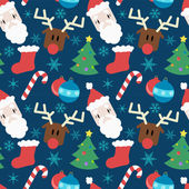 Funny vector pattern with Christmas elements — Stock Vector