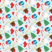 搞笑矢量花纹与圣诞元素 — 图库矢量图片