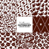 Seamless Halloween patterns mega collection — Vettoriale Stock