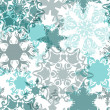 Stock Vector: Christmas pattern with delicate snowflakes