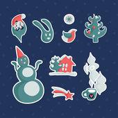 Set of funny christmas elements — ストックベクタ