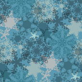 Christmas pattern with delicate snowflakes — Stock Vector