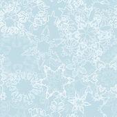 Jul mönster med fina snöflingor — Stockvektor