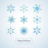Set of delicate snowflakes — Stock Vector