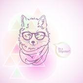 Hipster Mode Fuchs Illustration — Stockvektor