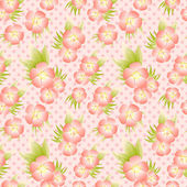 Vector pattern with cute flowers — Stock Vector