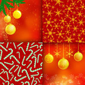 Set of Christmas elements and patterns — Stock Vector