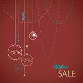 Vector christmas sale card — Stock Vector