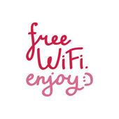 """""""Free wi-fi"""" lettering. — Stock Vector"""