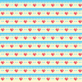 Pixel pattern with tiny hearts — Stock Vector