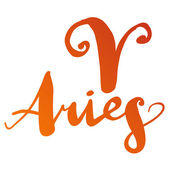 "Zodiac sign ""Aries"" — Vettoriale Stock"
