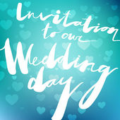 Wedding invitation — Wektor stockowy