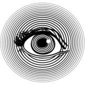 Otwarcie ludzkie oko — Wektor stockowy