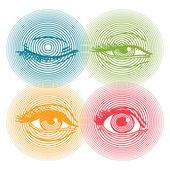 Human eyes — Stock Vector