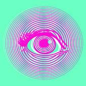 Otevření lidské oko — Stock vektor