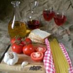 Food ingredients to the italian cuisine. — Stock Photo #14201689