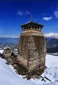 Tungnath é o templo do senhor shiva no himalaia — Fotografia Stock