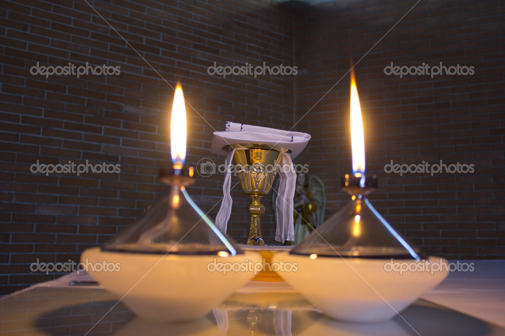 Candles in a church — Stock Photo #14075165