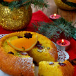 Christmas orange cake — Stock Photo