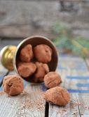 Çikolatalı truffle — Stok fotoğraf