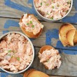 Salmon pate - Stock Photo