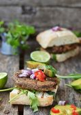 Vegetarian burger — Foto Stock