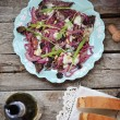 Radicchio and gorgonzola salad — Stock Photo