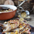 Bake quail - Stock Photo