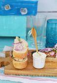 Mackerel sandwich — Stock Photo