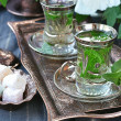 Stock Photo: Mint tea.