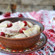 Stock Photo: Vareniki with cherry