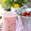 Cherry smoothy — Stock Photo