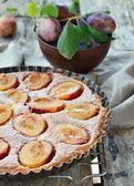 Torta de ameixa — Fotografia Stock