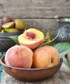Peaches.fruits — Foto Stock