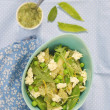 Pasta and green peas salad — Stock Photo