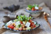 Ensalada de vegetebles y garbanzos. — Foto de Stock
