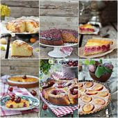 Collage with different kinds of homemade pies — Photo