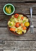 Pasta with tomato and pumpkin — Stock Photo