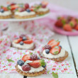 Summer berries tartlets — Stock Photo #32590859