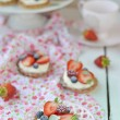 Summer berries tartlets — Stock Photo #32593261